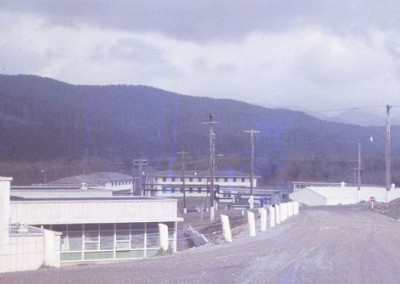 Administration building (on left) with barracks in background5