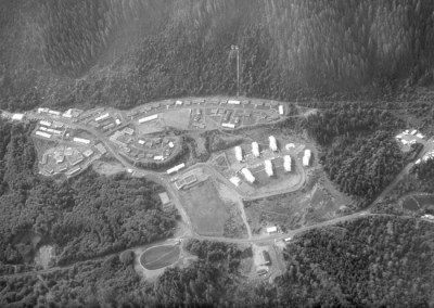 Aerial photo of the Domestic site at Holberg