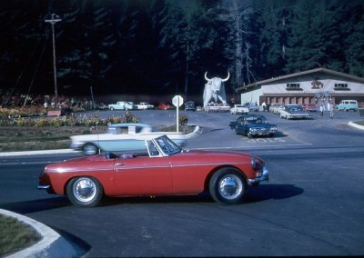 Bill Johnson's MGB sports car (related story in Holberg message area) - September 1964