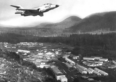 CF-101 flying over the domestic site domestic site