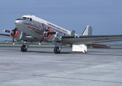 Canadian Armed Forces DC-3 at Port Hardy airport