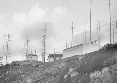 Communications equipment perched on the hill