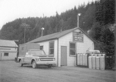 Holberg Marine Section office at the dock - March 1972