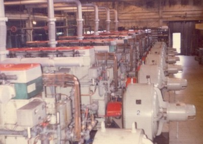 Interior photo of the Power Plant which was at 1200 feet elevation - March 1974