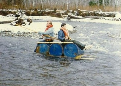 Klondike Days raft race - October 1972