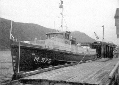 Nimpkish II at the Marine Section dock - April 1972