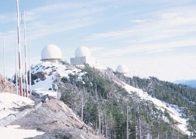 Operations site (3 radomes) with traces of snow