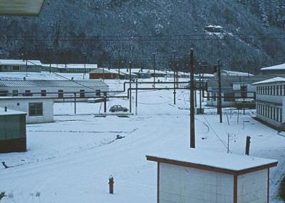 Snow in the single quarters - January 1970