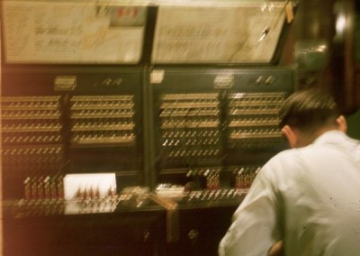 Ted Jones working at the switchboard - April 1965