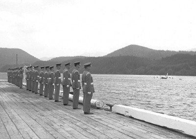 The Honour Guard awaiting the arrival of AVM WA Orr