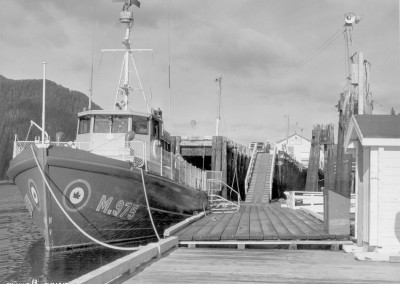 The Nimpkish tied up at the dock