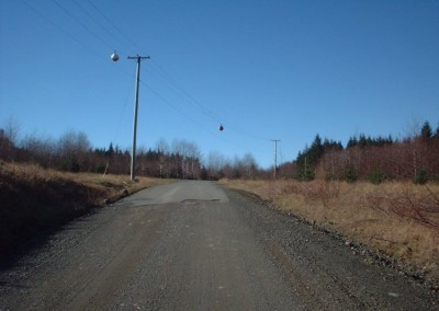 The road leading to the Operations site