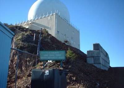 View of the radome as seen from the access road