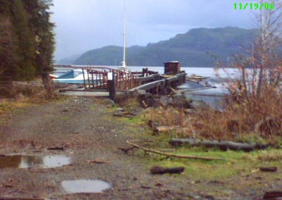 A slightly closer look at the dock in 2006