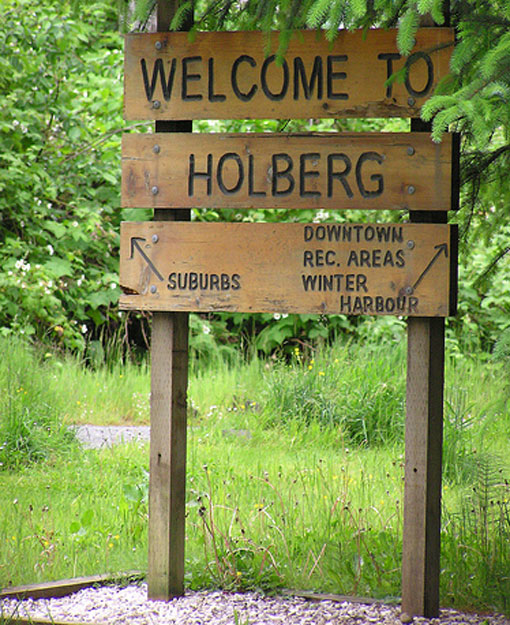 Official %22Welcome to Holberg%22 Sign
