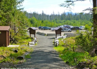 Cape Scott trailhead parking lot by Rick